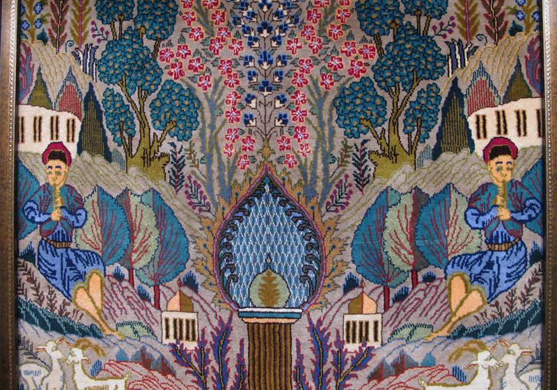 ペルシャ絨毯カシュマール、拡大写真1