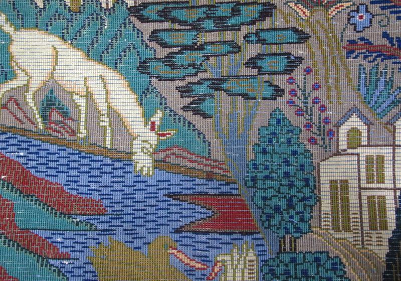 ペルシャ絨毯カシュマール、拡大写真4