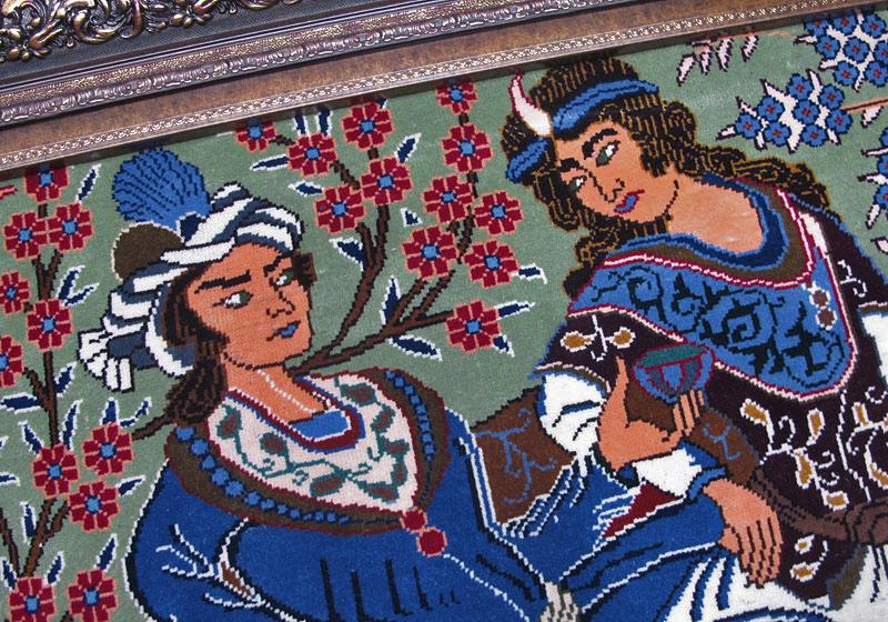 ペルシャ絨毯・カシュマール、拡大写真1