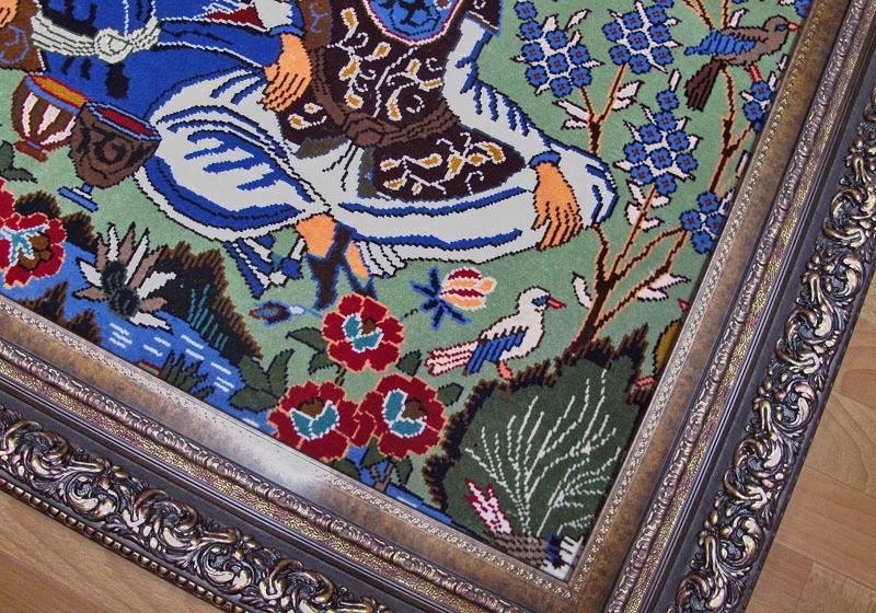 ペルシャ絨毯・カシュマール、拡大写真2