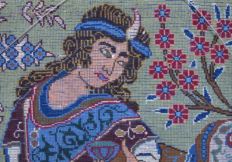 ペルシャ絨毯・カシュマール、拡大写真4
