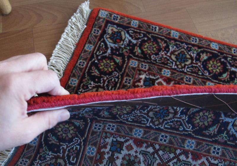ペルシャ絨毯  玄関マットサイズ、拡大写真4