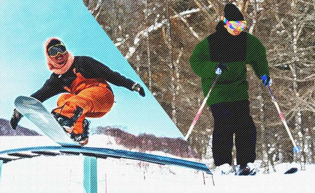 >スノーボードウェアとスキーウェアの違い