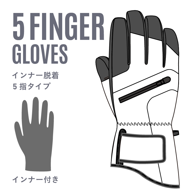 5 FINNGER GLOVES