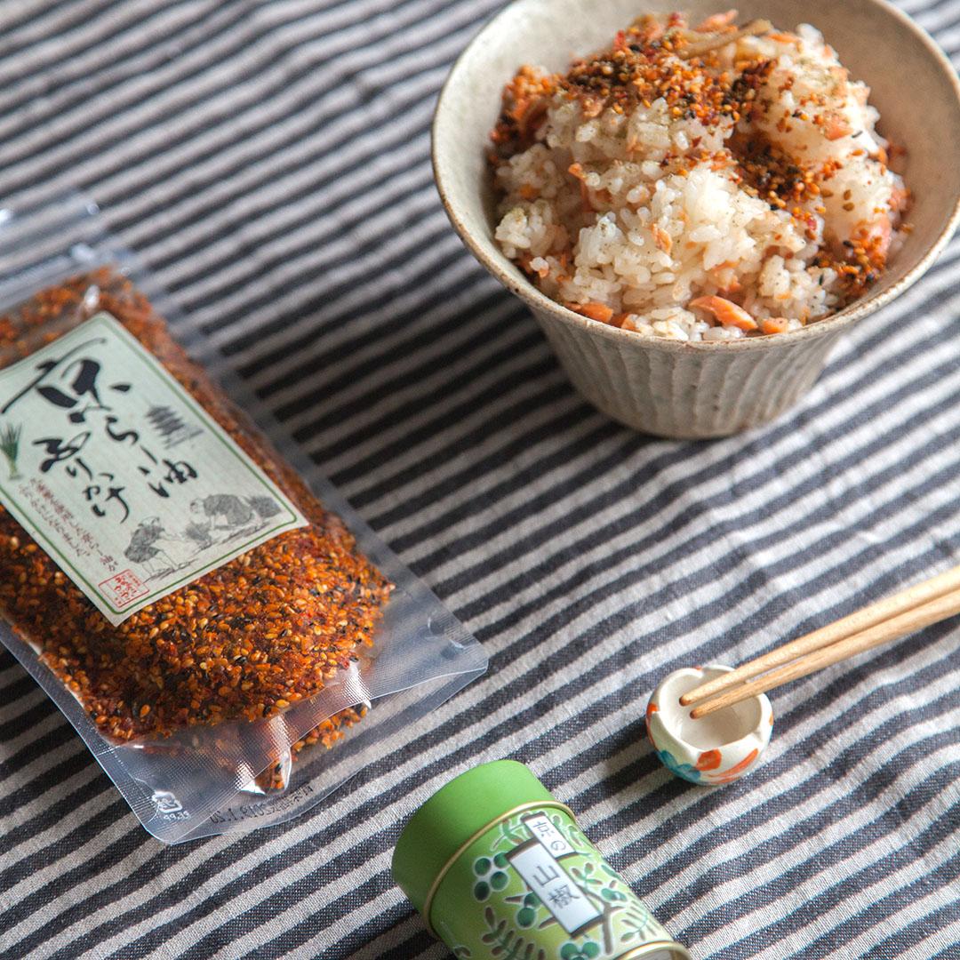 秋鮭とレンコンのまぜご飯