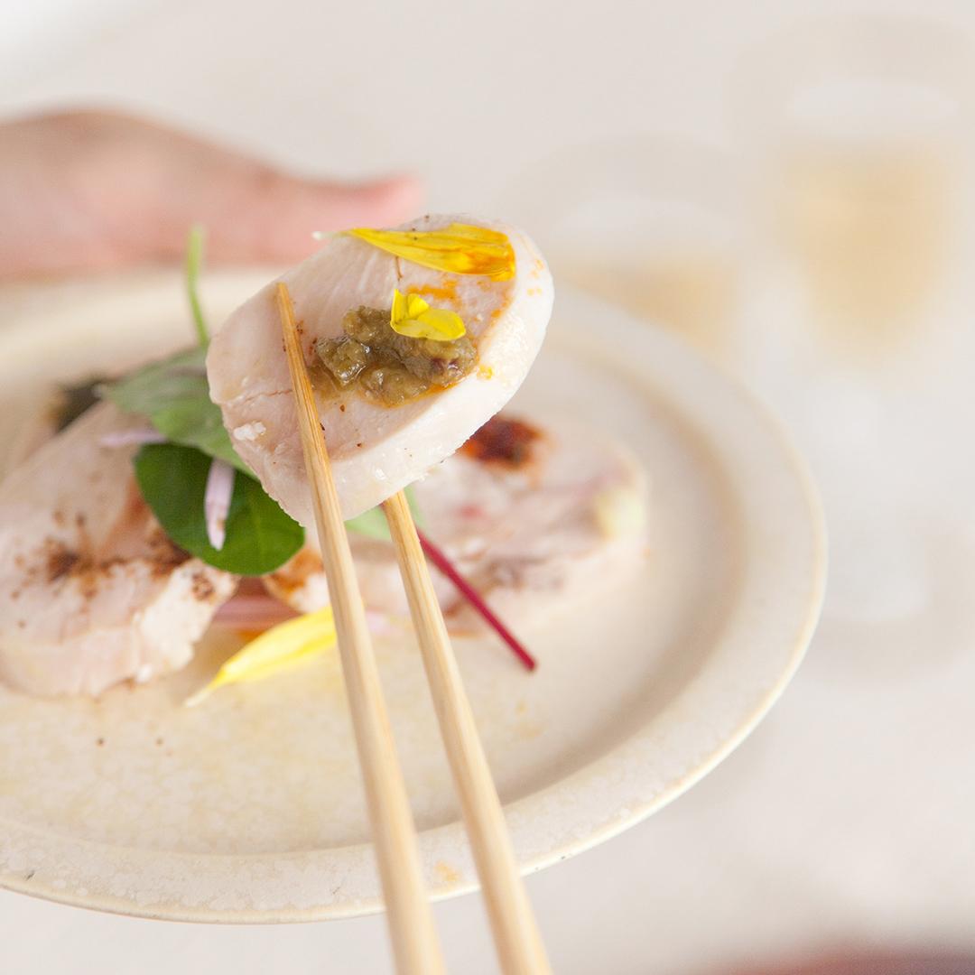 自家製鶏ハムと4種のスパイス