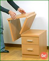 折りたたみ文机・和室用パソコンデスク(木製 座卓 ロータイプ)