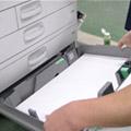 コピー機の給紙カセットのチェック
