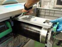 印刷機の内部清掃