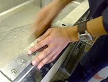 シュレッダー細断刃の研磨