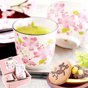 敬老の日 2021 茶碗(華みさと) 和菓子どら焼き お菓子付きセット