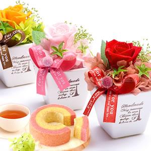 敬老の日  薔薇プリザエッフェル+カップケーキまとめ