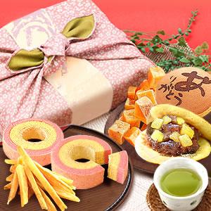 敬老の日  風呂敷和菓子セット [常温]