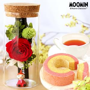 敬老の日のプレゼント ムーミン プリザーブドフラワー 薔薇 ミィ