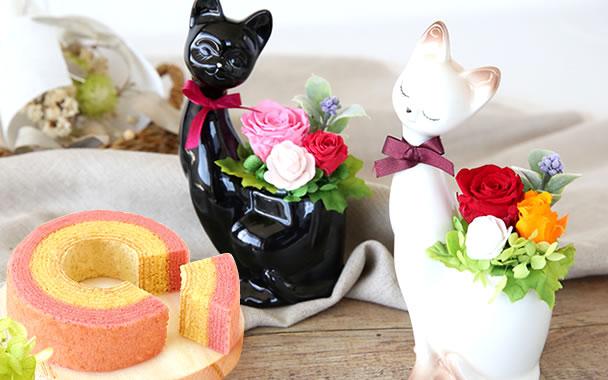 敬老の日 人気 【猫】プリザーブドフラワー まとめ