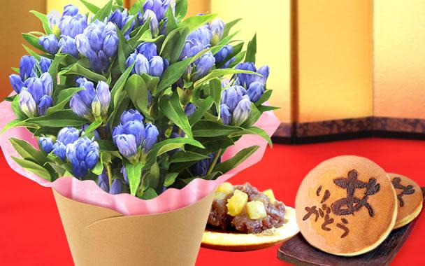敬老の日 2021 りんどう 和菓子セット