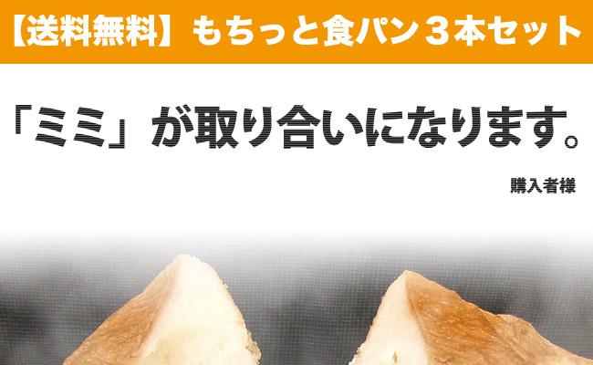 送料無料もちっと食パン3本セット