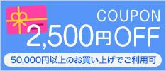 クーポン 2500円