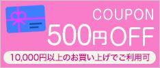 クーポン 500円