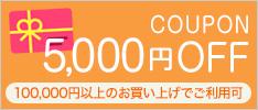 クーポン5000円