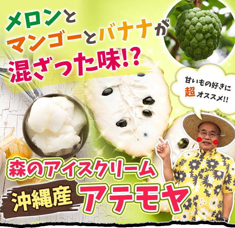 森のアイスクリーム沖縄産アテモヤ