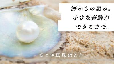 海からの恵み。小さな奇跡ができるまで。あこや真珠のこと