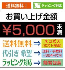 5,000円未満お買い上げご注意
