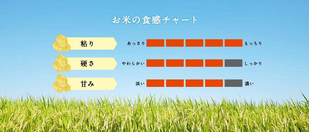 お米の食感チャート