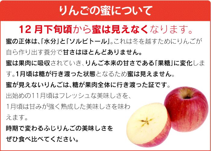 りんごの蜜について