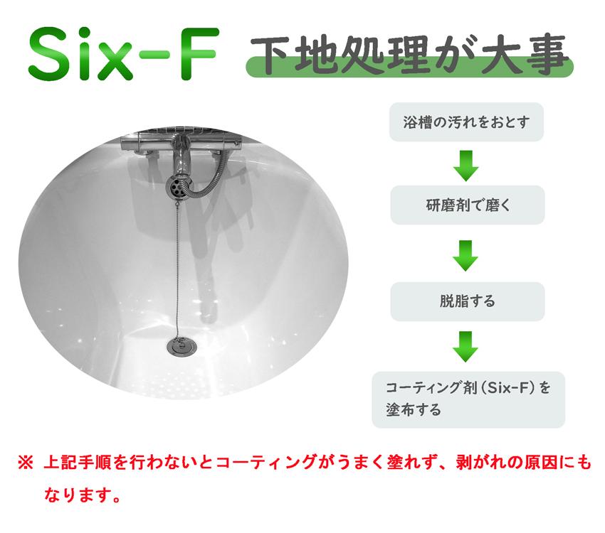 ガラスコーティング剤six-F下地処理