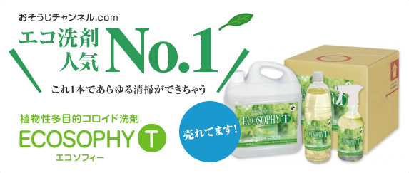 エコ洗剤人気No.1 ECOSOPHY T ~エコソフィT~