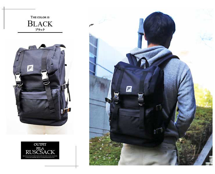 7c89797121b3 Outfit Style: FILA Fila Luc buckle backpack decaluc backpack day ...