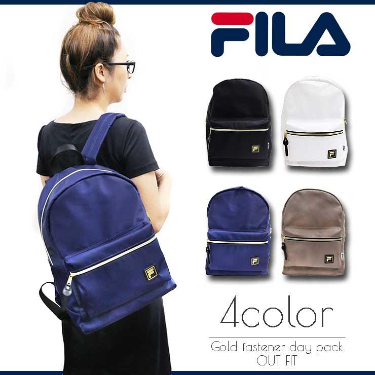 FILA リュック メンズ レディース フィラ ゴールドファスナーデイパック リュックサック バックパック バッグ 鞄 ブランド おしゃれ 人気 アウトドア 通勤 通学 ユニセックス ペア