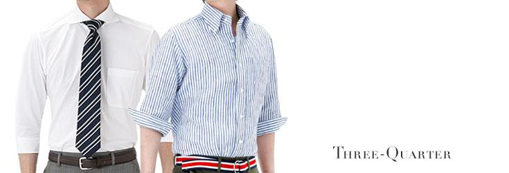 七分袖シャツ/ワイシャツ/Yシャツ/ドレスシャツ/カジュアルシャツ/メンズ