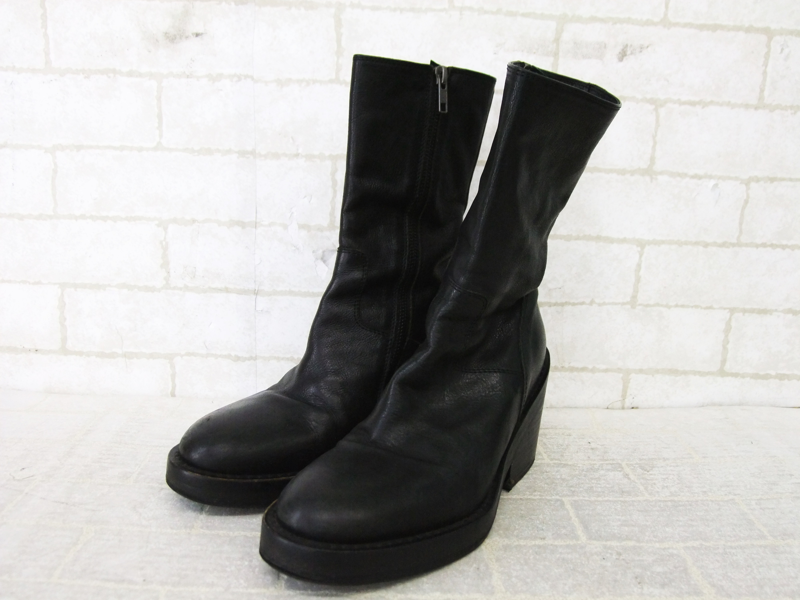 97ff09915972 Absurdly amazing Ann Demeulemeester zip-up mid-calf boots bought from  Rakuten, totalling around 200 CAD shipped. I saw them here on Rosenrot's  blog and fell ...