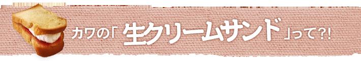 カワの「生クリームサンド」って?!