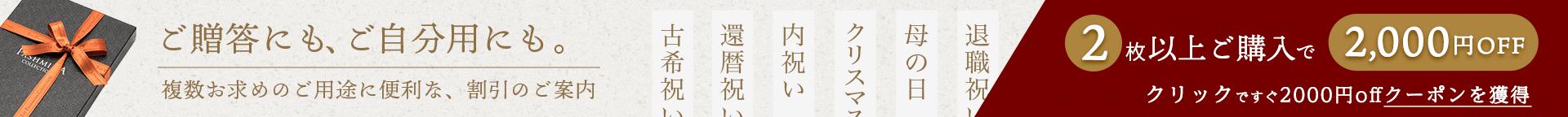 2枚以上ご購入で2千円OFFクーポン