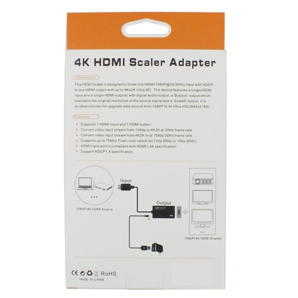Hdmi Scaler Converter Adapter ☆ HDMI 4K scaler converter conversion adapter  for HDCP 1080p Video to Ultra HD ☆ 4K x 2K support ☆ HDMI to HDMI