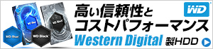 WESTERN DIGITAL製 HDD