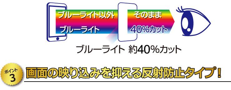 【ポイント3】 画面の映り込みを抑える反射防止タイプ!