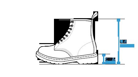 ブーツ用サイズ計測箇所