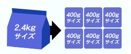 油の酸化を防ぐため、アルミパックの小分け包装(450g)を採用。