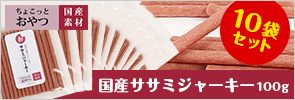 ちょこっとシリーズ 国産ササミジャーキー 100g(10袋セット)