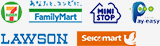 セブンイレブン Family Mart MINI STOP Pay easy LAWSON Seico mart