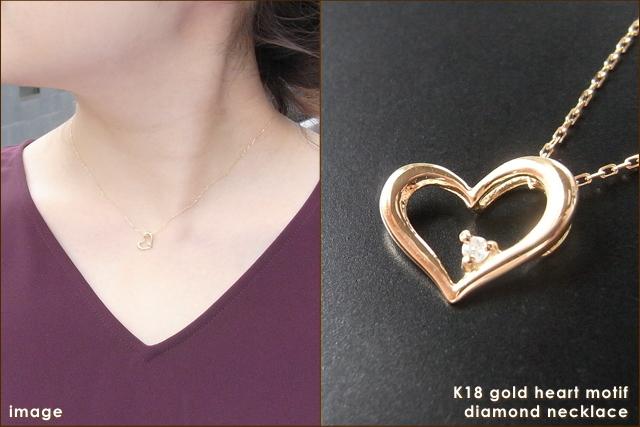 華奢でシンプルな18Kネックレス、K18ゴールド(18金)レディースダイヤモンドネックレスの画像2