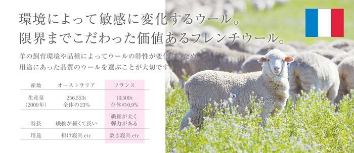 アモリール羊毛敷布団