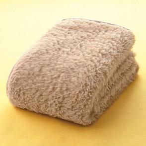 アルパカ敷き毛布