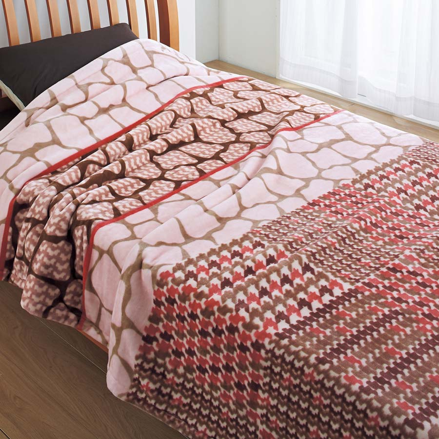 アニマル柄毛布