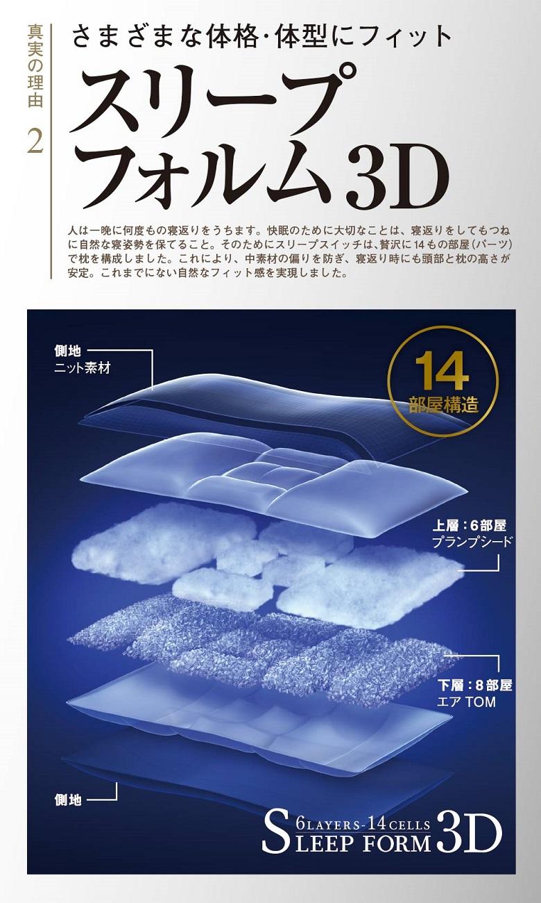 スリープスイッチ枕