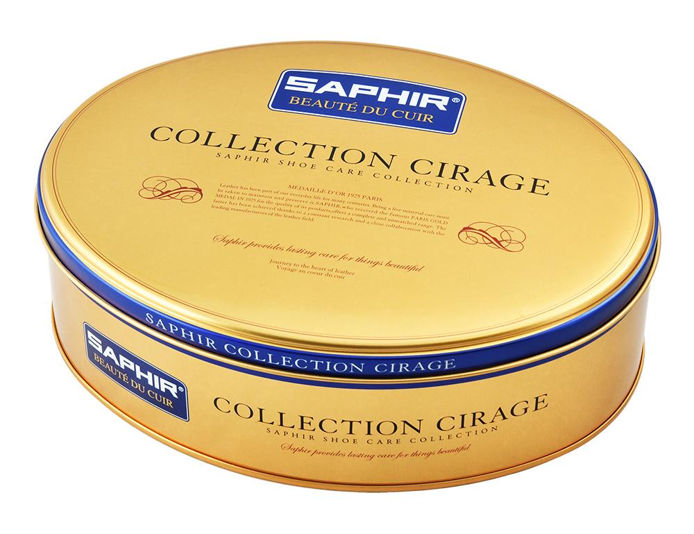 フランスブランドらしい、まるでクッキー缶のような、ギフトにも最適なシューケアボックス缶です。